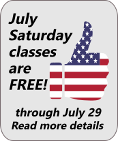 July 2017 Saturday classes are free