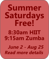 Summer Saturdays Free June 2 - August 25