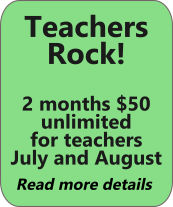 Teachers rock! 2 months $50 membership